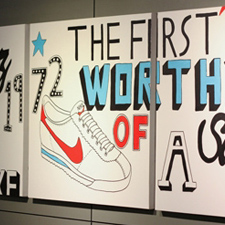 3 Canvas's for Nike Town, in collaboration with Intercity Design