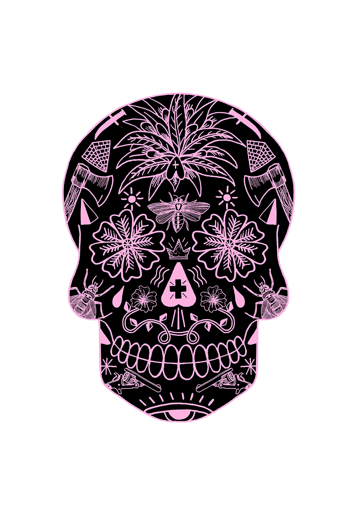 FINAL SKULL_pink and black